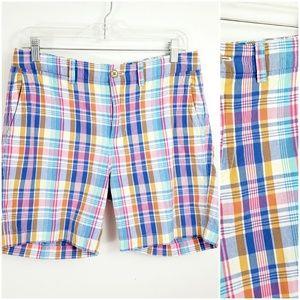 J. Crew Chino Size 6 Shorts Bermuda Plaid Madras